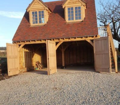 Oak Frame Cart Lodges