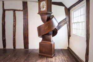 Clock Knotted Oak