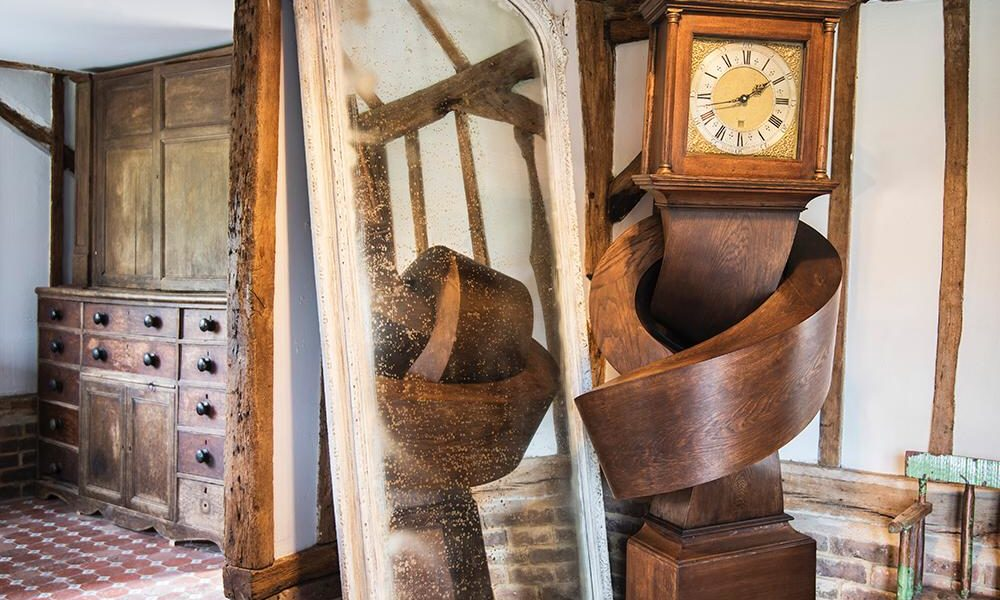 Carved clock Alex Chinneck and Johnathan (1)