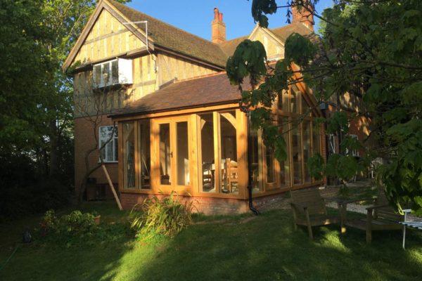 Oak frame orangery Ware, Hertfordshire (2)